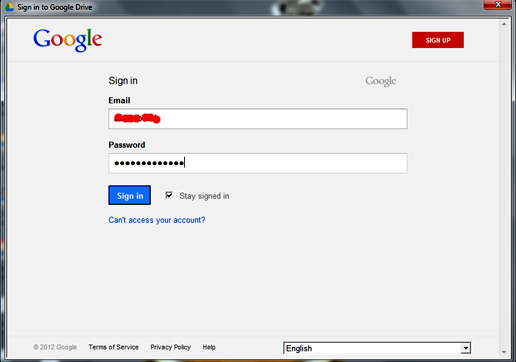 Google Drive Sign In