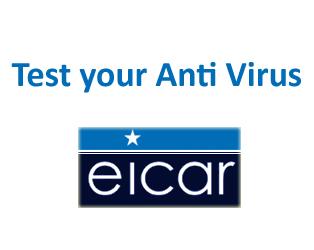 Eicar: Now you can test your antivirus  | Techdunes