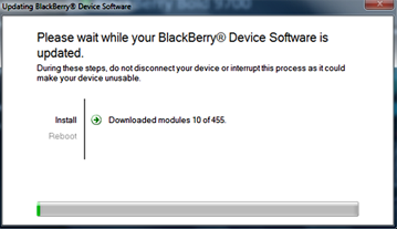 Erase and Reload Software In Blackberry