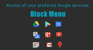 black menu extension