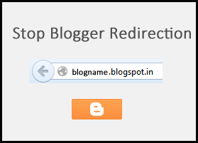 Stop Blogger Redirection